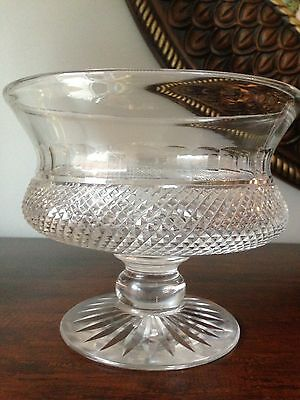 Cut Glass / Crystal Footed Bowl / Compote ( Edinburgh Thistle ?)