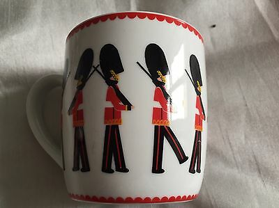 Queen/guardsmen Patterned Coffee Mug From Sainsburys