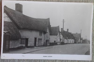 Monks Eleigh Postcard Showing Cottages