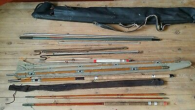 Vintage  FISHING KIT RODS REELS SEAT BOX  and More