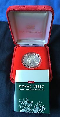 Australia 2000 Royal Visit 50 Cents .999 Fine Silver Proof Coin.
