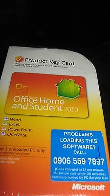 Office Home and Student 2010 product key card sealed box