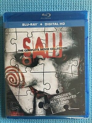 Saw: The Complete Movie Collection Blu-ray Ultraviolet  Digital HD All 7 Unrated