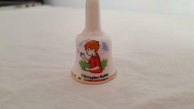 "Tiny Christopher Robin Bell Birchcroft China 2"" Pooh Disney Rare Miniature Mint"