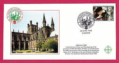 GB Cover. 1992 Chester Cathedral / Prince Charles / Basil Hume. SG1603. #2647