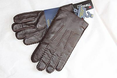 NEW RALPH LAUREN POLO MEN THE TOUCH LEATHER GLOVES CASHMERE Lined Size S & M NWT