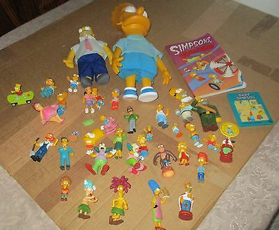 COLLECTION OF SIMPSONS FIGURES large and small