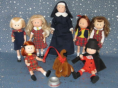 """Madeline 8"""" dolls Eden/LearningCurve  LOT of 8 -  Complete Curved Right Hand"""