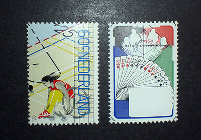 BASKETBALL NETHERLANDS HOLLAND ** MNH 1980 Paralympic games 1163/64 Bridge