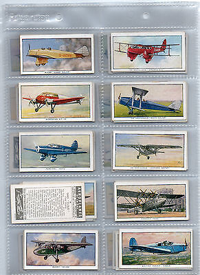 cigarette cards  aeroplanes of  today B.A.T 1936 full set