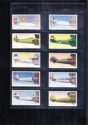 cigarette cards aircraft aeroplanes markings 1937 full set