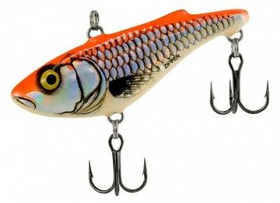 "Salmo SZ4-SRO Zipper 4 Silver Red Orange Lipless Crankbait 1 3/4"" 3/8 oz Sinking"