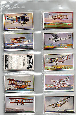 cigarette cards types of aeroplanes 1929 full set