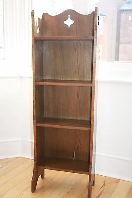 Antique Arts And Crafts Liberty Style Oak Bookcase St.albans