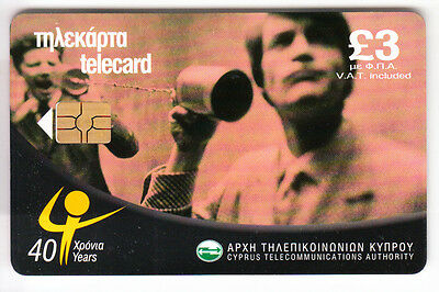 Europe  Telecarte / Phonecard .. Ile Chypre 3£ Telephone History 08/01 Chip/puce