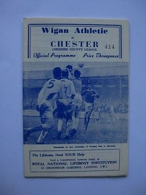Wigan Athletic v Chester 1965/66 Programme