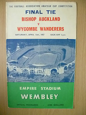1957 Amateur Cup FINAL- BISHOP AUCKLAND v WYCOMBE WANDERERS