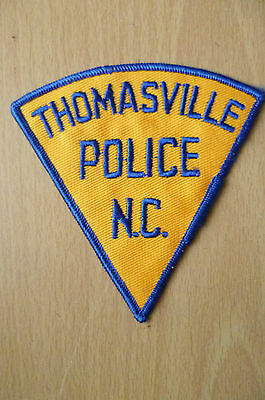 Patches: THOMASVILLE NC POLICE PATCH (NEW,apx.4x4 inch)