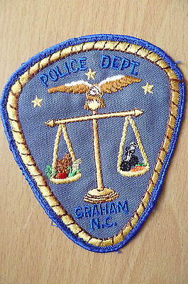 Patches: GRAHAM NC POLICE PATCH (NEW,apx.4.8x4 inch)