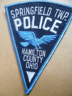 Patches: SPRINGFIELD TWP. HAMILTON COUNTY OHIO POLICE PATCH (NEW* apx.13x10 cm)