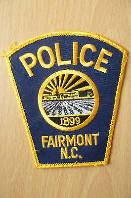 Patches: FAIRMONT NORTH CAROLINA NC 1899 POLICE PATCH (NEW,apx. 4.4x4)