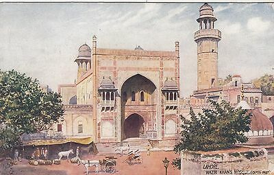 India,  Lahore 4 Mosque Postcards unused 1 dated 1923 in pencil on reverse