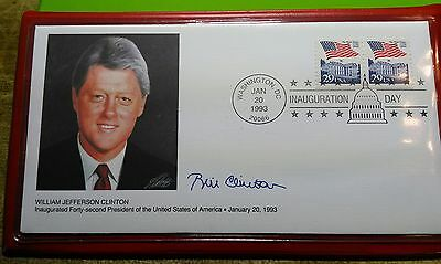 1993 Bill Clinton and Al Gore Inauguration Day Covers Fleetwood w/ case