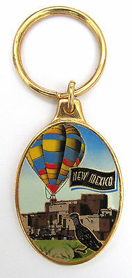SS1 Metal & Enamel New Mexico Hot Air Balloon Road Runner Keychain Ring Canada