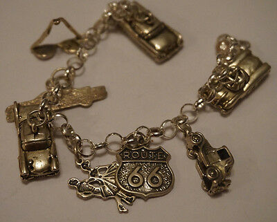 Sterling Silver charm bracelet with unique charms