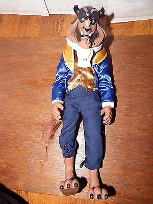 """RARE 13"""" Disney Beauty and the Beast figure toy doll vinyl man Barbie style"""