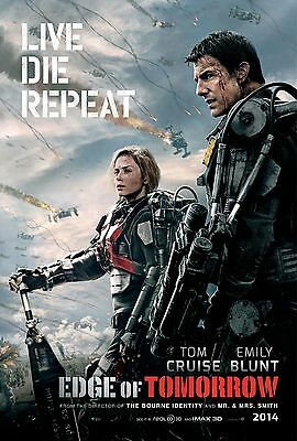 """Live Die Repeat: Edge of Tomorrow Movie Poster 18"""" x 28"""" ID:4"""