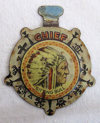 1950s POST'S POST RAISIN BRAN CEREAL CHIEF SITTING BULL BADGE