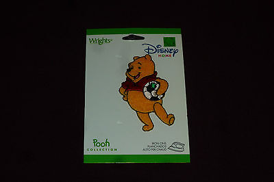 """NEW Wright's Disney Home Iron On Applique Approx 2 3/4""""  Soccer Winnie The Pooh"""