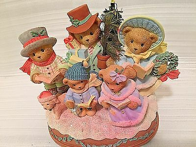 CT Christmas Bears All is Calm All is Bright Musical Wind Up NO Tree Light