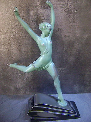 Statue art deco 'Olympie' signé FAYRAL - MAX LE VERRIER 1920/1930