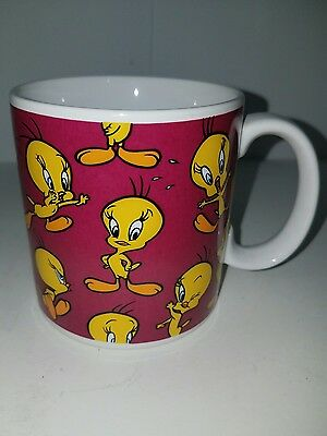 "Vintage Applause 1994 Looney Tunes TWEETY BIRD Coffee Cup Mug 3 1/2"" Tall"