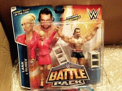 Wwe rusev and lana battle pack series 34 figures new rare
