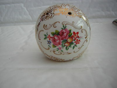 Floral China Pomander Size 6 Cm Tall With Stopper At The Bottom To Re Add Parfum