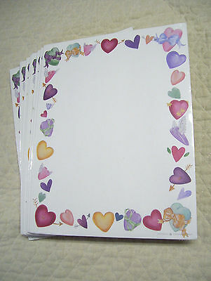 "Valentine Heart Stationery, Printer Paper, 200 Sheets, 8 1/2"" By 11"", New, Nip"