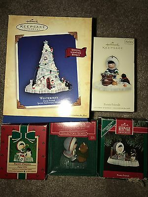 Hallmark Ornament LOT of 5 FROSTY FRIENDS 1984 1986 1991 2004 Special Ed  & 2007