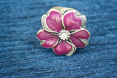 Vintage Bwc Flower Watch Ring Purple Flower New Without Packing