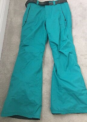 Women's Turquoise 10 Long O'Neill Trousers Ski Snowboarding