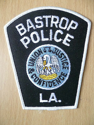 Patches: BASTROP LOUISIANA LA POLICE PATCH (NEW, apx.4.8x 3.14)