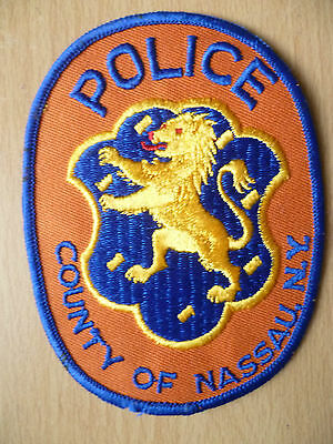 Patches: COUNTY OF NASSAU NEW YORK NY POLICE PATCH (NEW, apx.4.10x3.8)