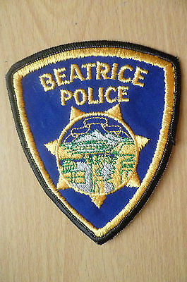 Patches: BEATRICE POLICE PATCH (NEW*apx.11.5x9.5.cm)