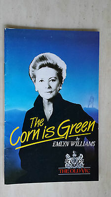 THE OLD VIC THEATRE PROGRAMME 1985 - DEBORAH KERR in THE CORN IS GREEN