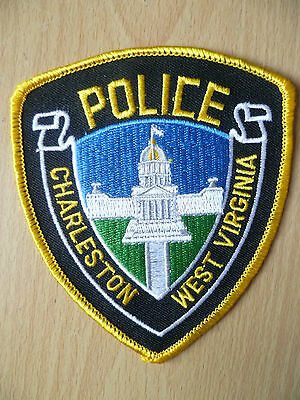 Patches: CHARLESTON WEST VIRGINIA POLICE PATCH (NEW, apx. 4.4x3.12 inch)