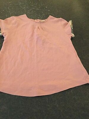 Girls Pink Burberry Top Age 2