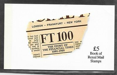 Great Britain, Sc# BK152, Story of the Financial Times, 1988, Prestige Booklet,