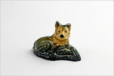 Vintage Wade Whimsies Dog - Porcelain Animal Figurine - Small Collectable